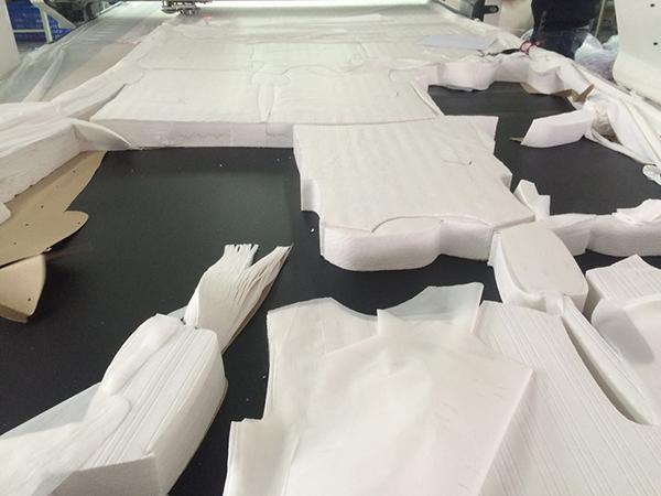 自动裁床的成品布料